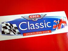 CLASSIC SPORTS CAR CLUB  Vintage Car Bumper Sticker Decals 1 off 200mm