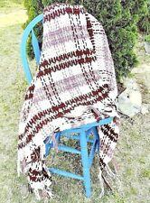 Vintage Multi Colored Crochet Granny Afghan Ringer Throw Blanket 56x53