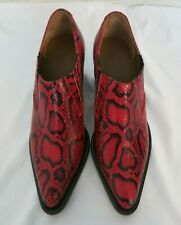 CHLOE red and black snakeskin bootie size 40 us 10