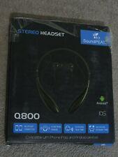 Wireless Bluetooth Headset Stereo Headphone Earphone Sport Hands Free (Black)
