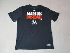 Nike Miami Marlins Shirt Adult 2XL XXL Black Orange Dri Fit MLB Baseball Mens A8