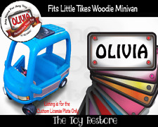 Custom License Plate Replacement Stickers fits Little Tikes Woodie Minivan Van