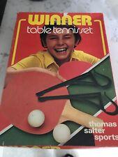 WINNER TABLE TENNIS SET Boxed VINTAGE 1978 Thomas Salter Sports GUC