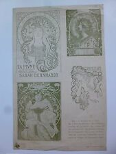 TEN  ART NOUVEAU  LITHOGRAPHS  1880-1890