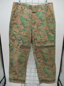 P5674 VTG Men's Marithe Francois Girbaud Camouflaged Jeans Size 38