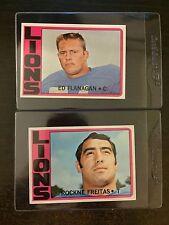 1972 Topps #149 Ed Flanagan *Lions* Sharp!* 2 Card Lot ! Krf-9307