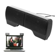 1 Pair Clip-On Mini USB Powered Line Control Stereo Speaker For Notebook Laptop