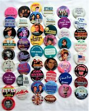 Las Vegas Strip Hotel Celebrity Musician Pinbacks Buttons Lot Of Fifty