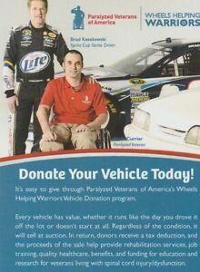 2016 Brad Keselowski Wheels Helping Warriors Ford SEMA NASCAR Sprint Cup handout