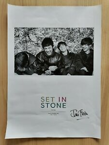 Very rare Stone Roses poster photo print | Signed by Ian Tilton for exhibition