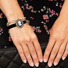 3in1 Vintage Victoria perla Bowknot Cadena Terciopelo Cameo apilan Pulsera Reino Unido