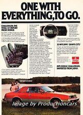 1979 Dodge Challenger  Mitsubishi Original Advertisement Print Art Car Ad J687