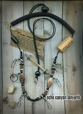 Fly Fishing Lanyard-USA Handcrafted w/Tippet Holder, Bone and Natural Beads