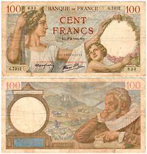 France 100 Francs P#94 (04.12.1941) Banque de France VF