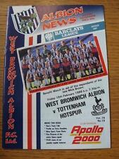 19/02/1988 West Bromwich Albion v Tottenham Hotspur [Mick Brown Benefit] (Item h