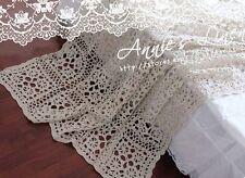 Shabby Chic Handmade Country Crochet Table/Sofa/Bed Cloth/Spread/Throw CT03