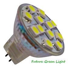 MR11 12 SMD LED 2.4W 12V (10-30V DC / 10-18V AC) 200LM WHITE BULB ~25W