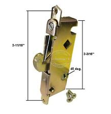"Sliding Patio Door Mortise Lock w/o Faceplate. 45 Degree, 3-11/16"" Screw Holes"