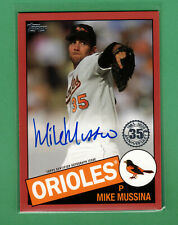 2020 TOPPS MIKE MUSSINA AUTO RED PARALLEL 1985 TOPPS DESIGN 9/25 ORIOLES