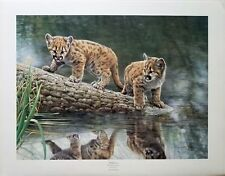 "Charles Fracé ""Reflections""  Cougar cubs print LMT ED S/N (619/3600) COA"