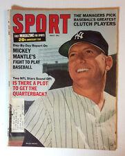 Jul 1966 SPORT Magazine- Mickey Mantle Cover & Article (E1240)