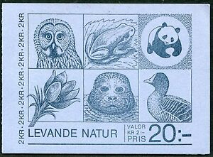SWEDEN #1527a Nice Never Hinged Booklet - WWF World Wildlife Fund - B0144