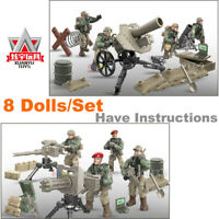 Call of Duty Military Soldiers Army Mortar Gun Fit Mega Bloks Lego MiniFigures