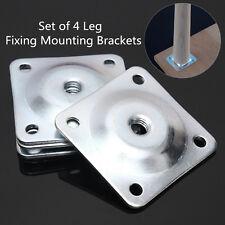 Set of 4 Leg Fixing Mounting Plates Brackets Sofa Level Plate Feet Legs New