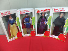 Disney 4 Dolls Snow White Prince Queen Witch Foreign Issues Blanche Neige MIB