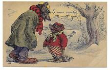 Dressed BEAR / BEARS Old Early 1900s Postcard