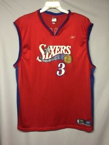 NBA Philadelphia 76ers Allen Iverson Reebok Jersey Size 3XL