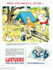 PUBLICITE ADVERTISING 056  1965  Dessin Bellus  pates Lustucru 2