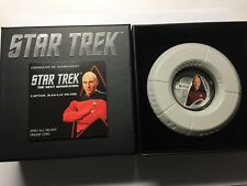 Star Treck Silver Proof coin Captain Jean-Luc Picard