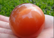 40mm Red Mexican Opal Sphere, Crystal Ball Gemstone +stand F67