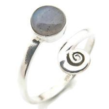 Ring 925 Silber verstellbar mit Labradorit