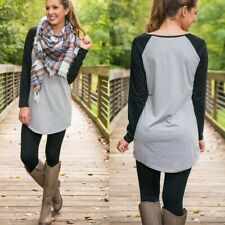 Women Ladies Casual Sweatshirt Long Sleeve T-Shirt Pullover Baggy Tunic Tops US