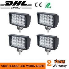 4x45W Rectangle LED WORK LIGHT BAR SUV ATV Boat Tractor Flood light Fog Lamp 24V