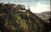 Bad Blankenburg Thüringen 1935 Ruine Burg Greifenstein gelaufen nach Frankenberg