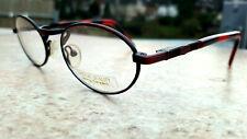 Rund Ovale Hochwertige Vollrand Brillengestelle Rot Schwarz Federbügel