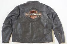 Harley Davidson Men ROADWAY Black Leather Jacket Bar & Shield 3XL 98015-10VM