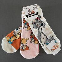 3 Paar Disney Susi und Strolch Damen Sneaker Socken Strümpfe Bunt 37-42 Primark