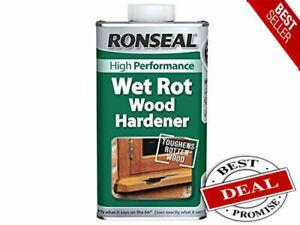 Ronseal Indoor/Outdoor Wet Rot Rotten Wood Hardener Window/Door Treatment 250ml