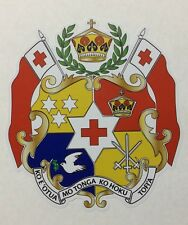 Tonga Flag Tongan Coat Of Arms Waterproof Car Sticker 105 X 115mm
