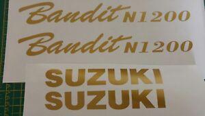 Suzuki Bandit N 1200 Replacement decal (non OEM) 4x **(GOLD)