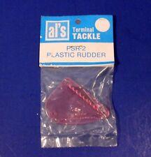 Al's Terminal Tackle Plastic Fishing Lure Rudder Psr-2