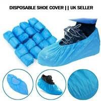 DISPOSABLE OVERSHOES BLUE PLASTIC SHOE COVER ANTISLIP BOOT SAFETY UK