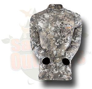 S Sitka Gear Core Midweight Mock L/S Tee Shirt Optifade Elevated II 10037-EV-S