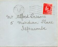 More details for 1936 sg 458 1d scarlet with ilfracombe cancel dated three days before issue