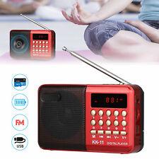 Mini Portable LCD Digital FM Radio Speaker Audio USB SD TF Card Mp3 Music Player