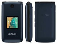 New Alcatel GO FLIP 4044W Camera Flip Phone T-Mobile GSM 4G LTE WiFi